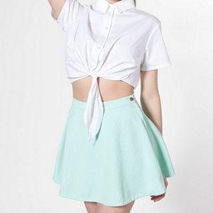 Mint Denim AA Circle Skirt